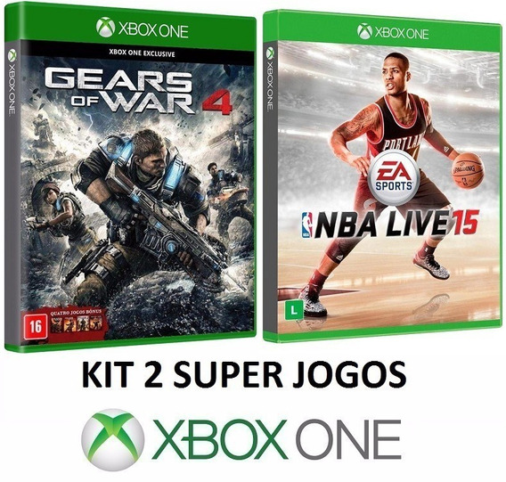 Gears Of War 4 + Nba Live 15 / 2015 - Midia Fisica Xbox One