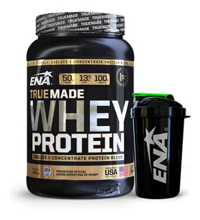 True Made Whey Protein Ena 1kg Concentrada Isolada + Shaker