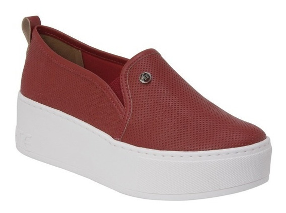 Tênis Casual Feminino Slip On Via Marte Flatform 19-1104