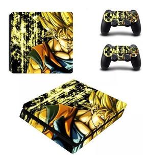 Skin Dragon Ball Slim Sony Playstation 4 Y 2 Controles Ps4