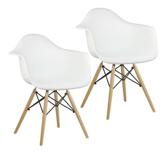 Cadeira Daw Charles Eames Kit 2 Cadeiras Wood Frete Grátis