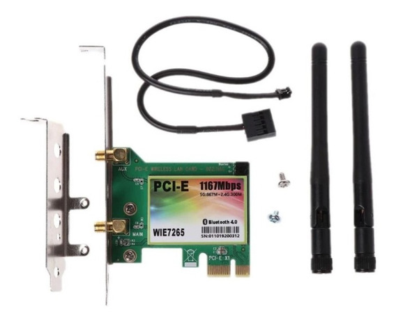Rede Pcie Wifi C/ Bluetooth Intel Ac7265 Dual Band 867mbps