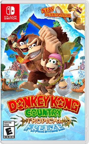Donkey Kong Country Tropical Freeze Switch Mídia Física