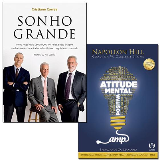 Livros - Atitude Mental Positiva + Sonho Grande Frete Grátis