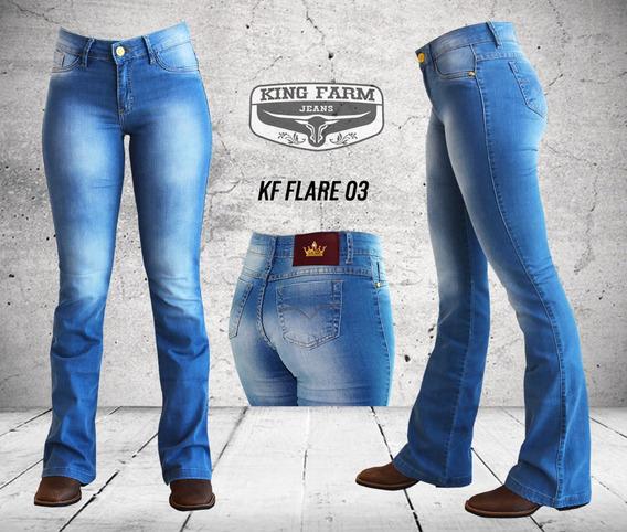Calça Jeans Feminina King Farm Flare 03