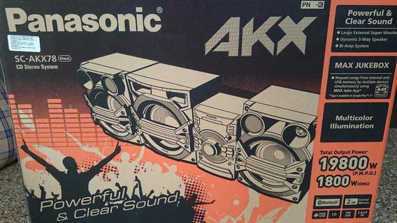 Equipo Sonido Panasonic Sc-akx78 Bluetooth (rematando)