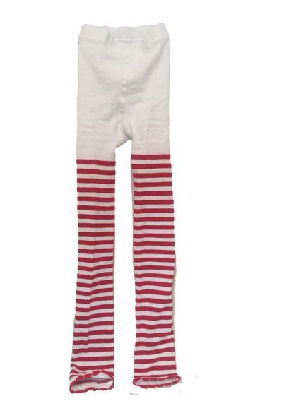 Mallon Caramelo Rojo Con Blanco Leggings Niña Talla 9/12