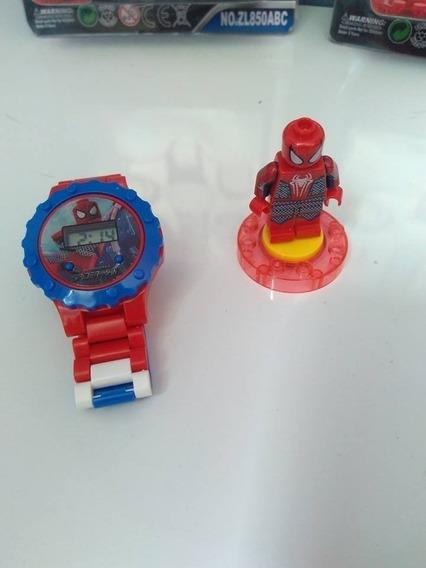 Relógio Digital Infantil Homem Aranha+ Lego Black Friday
