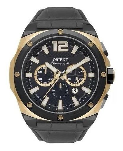 Relógio Orient Masculino Analógico Couro Preto Mtscc035 P2px