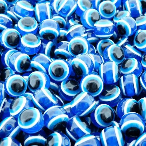 Bolinha Miçanga Olho Grego Para Artesanato - 10mm - 100pçs