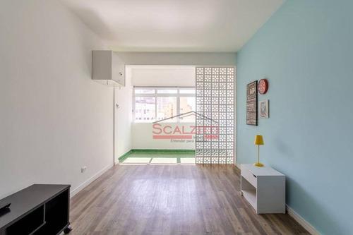 Studio Com 1 Dormitório À Venda, 35 M² Por R$ 370.000,00 - Consolação - São Paulo/sp - St0336