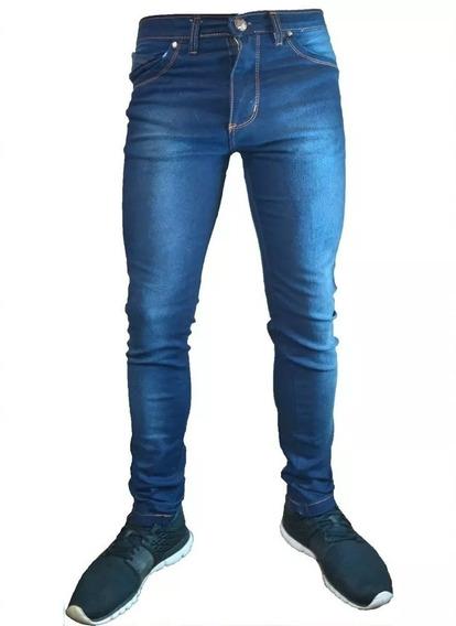 Pantalon Jeans Elastizado Chupin De Hombre Hasta Talle 48 Precio Directo De Fabrica
