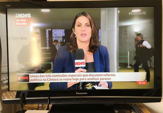 Tv Lcd 42 Panasonic Viera Full Hd + Conversor Hdtv + Antena