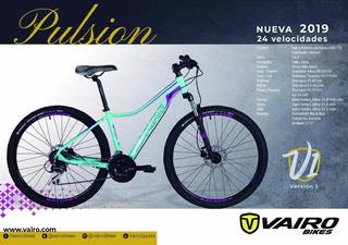 Bicicleta Mujer Vairo Pulsion V1 R27.5 2019 24v Disc - Racer