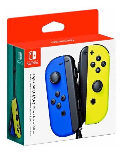 Control Joycon L R Amarillo Azul Nintendo Switch Neon