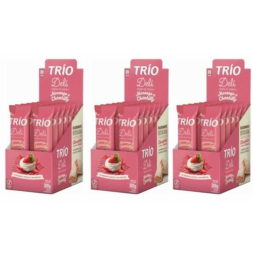 Trio Barra De Cereal Deli Morango Chantilly C/12 (kit C/03)