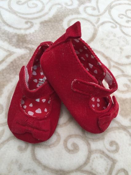 Sapatinho Vermelho Feminino Bebê