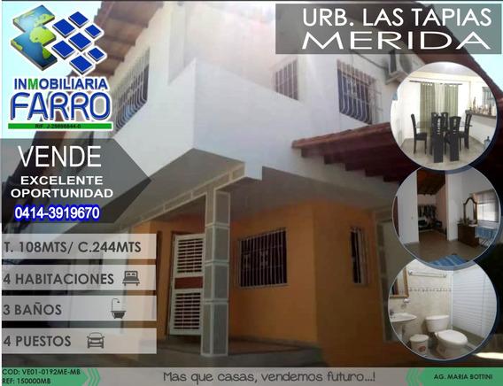 Venta De Casa En Merida Ve01-0192me-mb