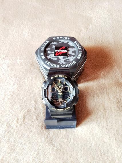 Relógio Casio G-shock Ga. 100 Camuflado / Original