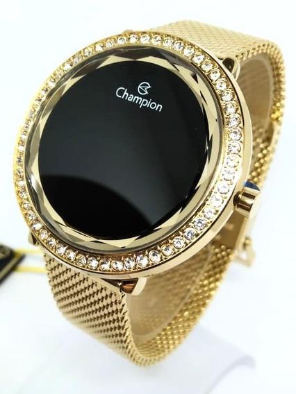 Relogio Champion Dourado Digital Led Original