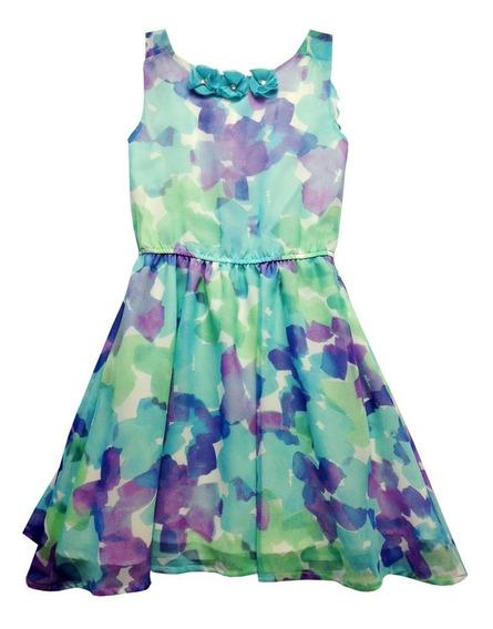 Vestido Sin Mangas Con Estampado De Flores (35878)