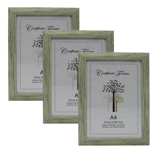 Set X 3 Marco Para Diploma Titulo Certificado Tamaño A4 - El