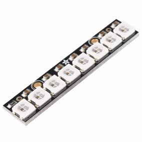 10 Unidad Linha De Led Rgb Endereçável Com 8 Ws2812