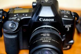 Câmera Canon Eos 3 - Analógica