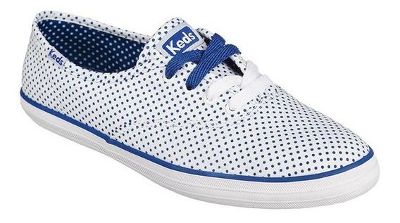 Tênis Feminino Keds Champion Micro Dot Branco Blue