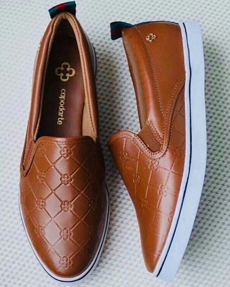 Tênis Feminino Capodarte Monograma Sneakers Slippers 4013126