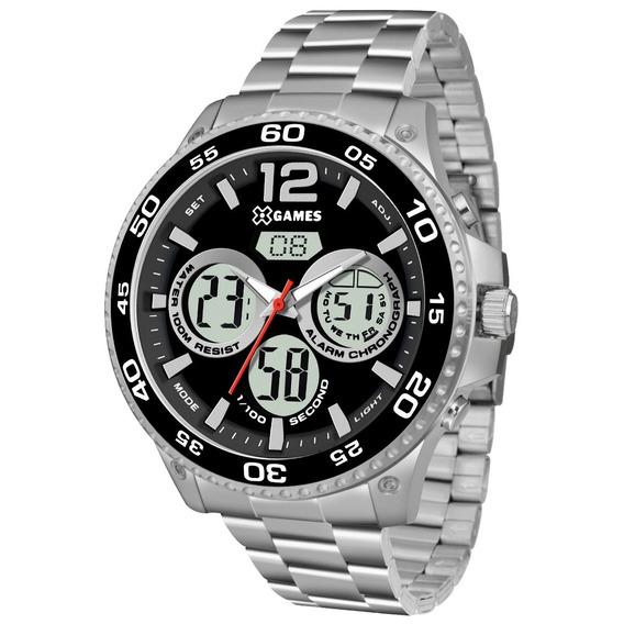 Relógio X-games Masculino Xteel Prata Xmssa006-p2sx