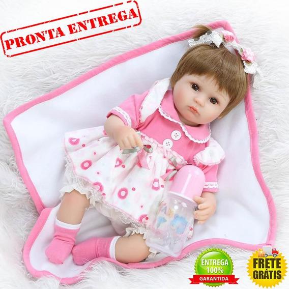 Boneca Bebê Reborn Luana 40 Cm Pronta Entrega