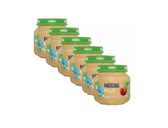 Papinha Nestlé Sobremesa Sabor Maça 120gr 18 Potes Atacado