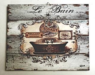 Cuadro Vintage Baño 01