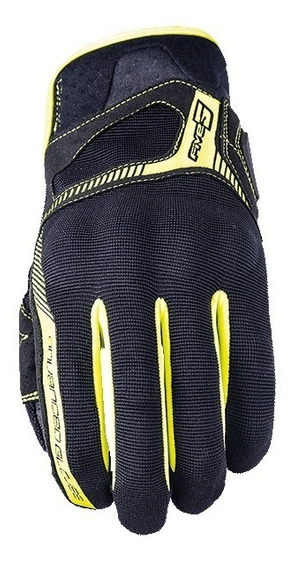 Guantes Five Rs3 Negro Amarillo Mh&s