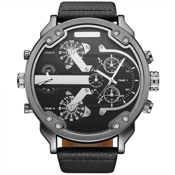 Relógio Masculino Quartz Oulm Original 5.6cm Frete Grátis