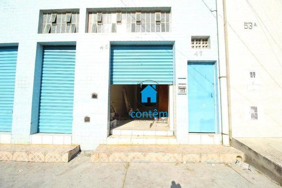 Salão Para Alugar, 90 M² Por R$ 1.600,00/mês - Cipava - Osasco/sp - Sl0036