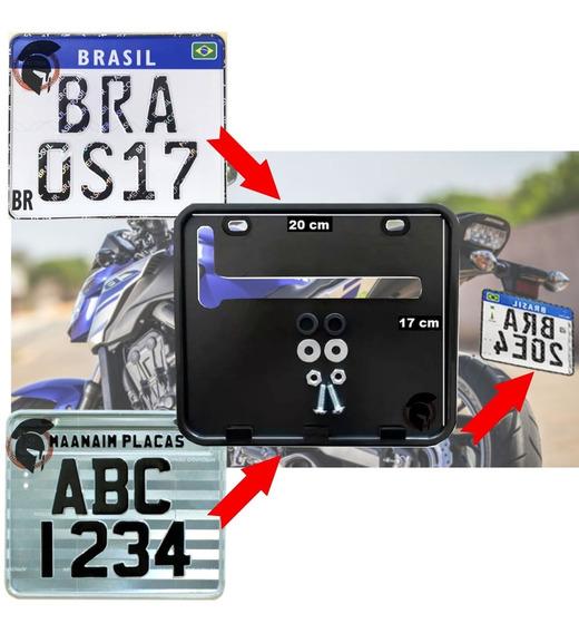Suporte Protetor De Placa De Moto Padrão Novo Grande 2426