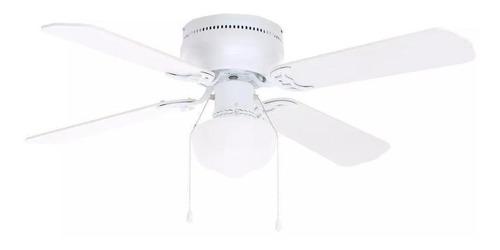"""Imagen 1 de 2 de Ventilador de techo Littleton 112044 blanco con 4 aspas color  blanco y roble blanqueado de  mdf, 42"""" de diámetro 120V"""