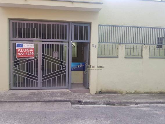 Casa Com 1 Dormitório Para Alugar, 40 M² Por R$ 750,00/mês - Vila Guilhermina - São Paulo/sp - Ca0113