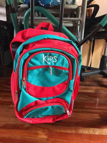 Mochila Con Ruedas Marca Kids Sin Uso