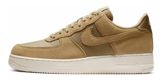 Tenis Nike Air Force 1 Bege Dourado