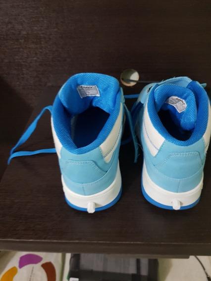 Ténis Com Rodinha Infantil Azul E Branco