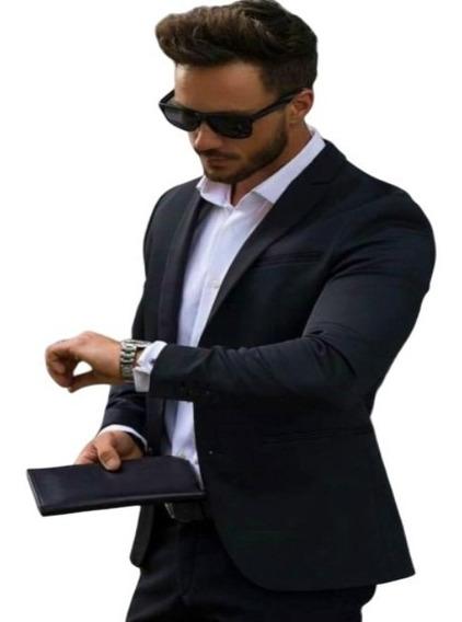 Kit Blazer Slim Paleto+calca+colete+camisa+gravata+capa Zipe