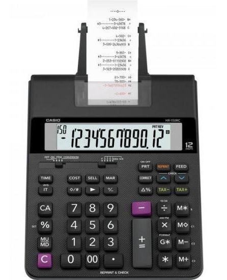 Calculadora Com Bobina Compacta Hr150rc-b Preto Casio
