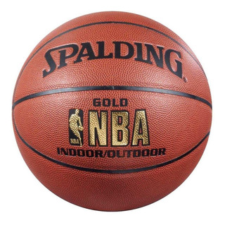 Pelota De Basquet Spalding Cuero Gold Indoor Outdoor 7