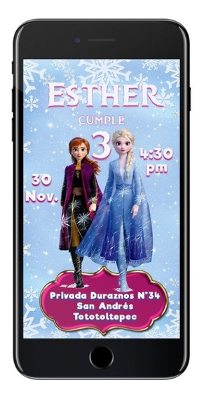 Invitacion Frozen - Archivo Digital Imprimible