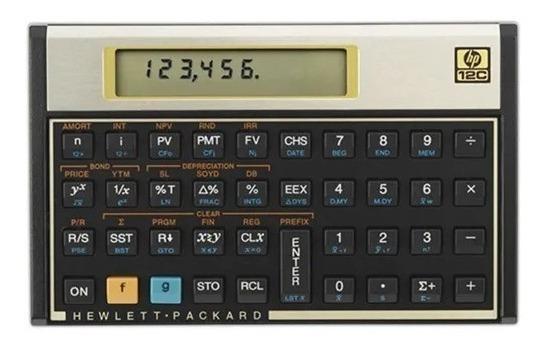 Calculadora Financeira Hp 12c + Capa Protetora