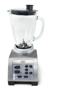 Licuadora 3 Velocidades Y 2 Funciones + Pulso Reversible Vaso De Vidrio Plata Oster Brly07-s00