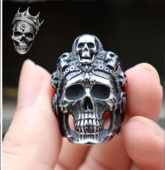 Anel Rainha Da Morte Caveira - Crânio - Esqueleto - Death
